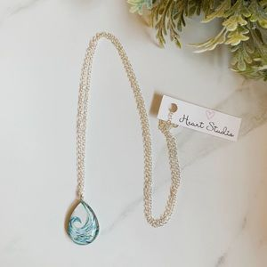 3/$30 Wave surfer beach lover necklace